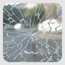 Broken Glass Stickers 100 Satisfaction Guaranteed Zazzle