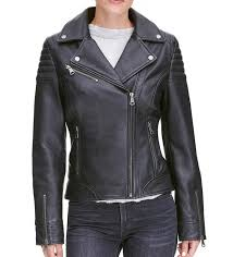 womens quilted leather moto jacket