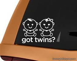 Boy Girl Twins Car Decal Got Twins Baby Boy Girl Twins Twin Etsy