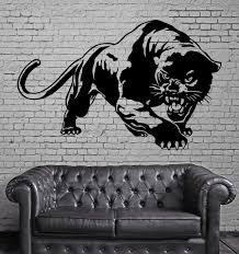 Wall Mural Vinyl Art Sticker Panther Ready For Hunt Jungle Animal Decor M377 Animal Decor Vinyl Art Stickers Silhouette Wall Art