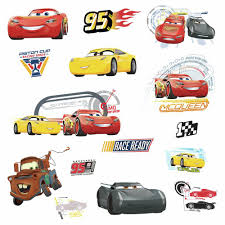 Disney Cars 3 Movie Wall Decals Lightning Mcqueen Mater Cruz Stickers Room Decor Walmart Com Walmart Com