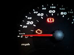 a blinking engine light means now