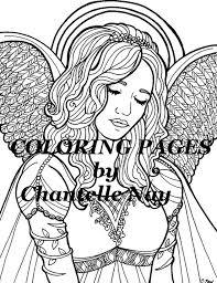 Kylie Kleurplaten Pagina Engel Vrouw Gezicht Volwassen Etsy