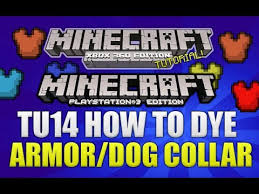 dye leather armour in minecraft ps3