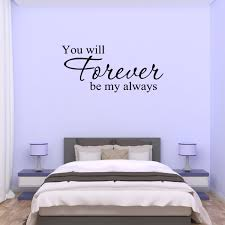 Wall Decal Quote You Will Forever Be My Always C18 L Walmart Com Walmart Com