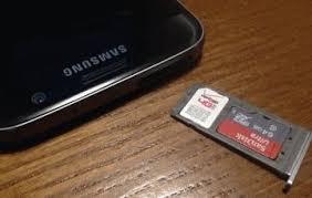 galaxy s8 insert remove sd card sim
