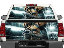 Product Nfl Rear Window Or Tailgate Decal Sticker Pick Up Truck Suv Car Rear Window Decals Rear Window Tailgate