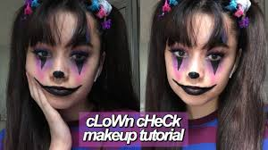 clown check makeup tutorial
