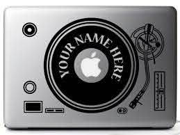 Customized Sticker Decal Record Player Dj Set Black For Etsy