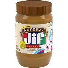 jif natural creamy peanut er spread