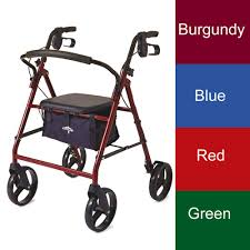basic steel rollator walker