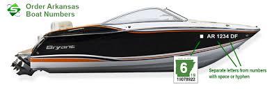 Information On Custom Boat Registration Numbers For Arkansas