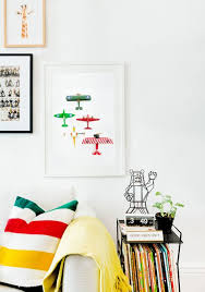 Airplane Print From Lesleemitchellart Com Perfect Decor For Kids Playroom Playroom Gallery Wall Colorful Kids Room Modern Kids Room Decor Modern Boys Rooms