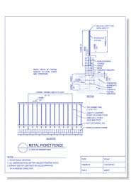 Cad Drawings Of Decorative Metal Fences And Gates Caddetails