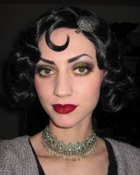 film noir inspired makeup look