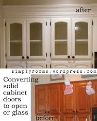 solid cabinet doors to glass inserts