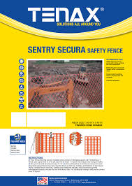 Tenax Sentry Secura Safety Fence Mesh Size 1 46 X 1 46 Fencerwire