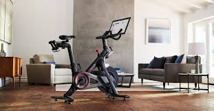 peloton indoor exercise bike with