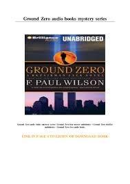 Ground Zero audio books mystery series