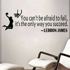 Lebron James Quote Basketball Wall Sticker Decal Mural Wallpaper Room Decora Yf For Sale Online