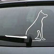 Amazon Com Dog Wagging Tail Rear Wiper Sticker Decal Stickers Pet Art Laptop Automotive