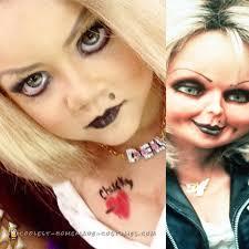bride of chucky costume makeup