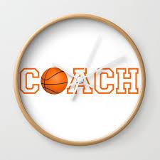 basketball coach gift idea wall clock