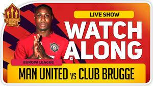MANCHESTER UNITED vs CLUB BRUGGE   With Mark Goldbridge LIVE - YouTube