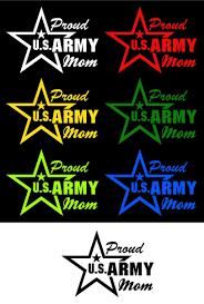 Proud Mom Us Army Vinyl Car Decal Motherproud