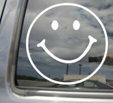 Gun Control Bullet Holes Target Smiley Face Car Truck Window Vinyl Decal Sticker