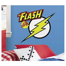 8 Classic Flash Logo Peel And Stick Giant Wall Decals Yellow Roommates Target