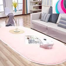 31 4 X 64 9 Inches Fluffy Soft Oval Kids Room Rug Bedroom Bedside Carpet Anti Skid Shaggy Fur Floor Area Rugs Indoor Modern Mats For Living Dorm Room Home Dedor Walmart Com Walmart Com