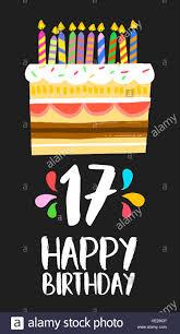 Feliz Cumpleanos Numero 17 La Operacion De Tarjetas De