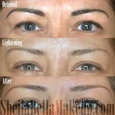 how to lighten permanent makeup at home