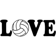 Love Volleyball 8 Vinyl Decal Car Window Sticker Car Beach Avp Fivb Ebay