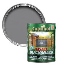 Cuprinol 5 Year Ducksback Silver Copse Matt Wood Paint 9l Departments Diy At B Q