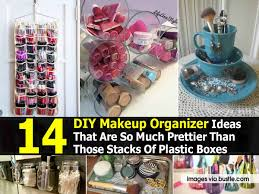 14 diy makeup organizer ideas that are