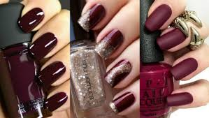 25 photos of burgundy nail designs for