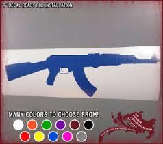 9 Ak 47 Vinyl Sticker Ak47 Assault Rifle Car Window Decal Ar 15 Gun Nra 2nd Ebay
