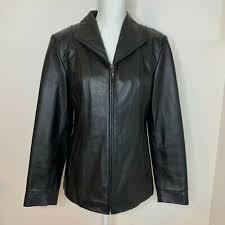 genuine lambskin black leather jacket