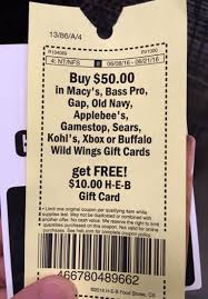 h e b tx only 50 in gift cards