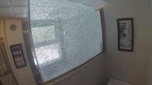 shattering shower doors