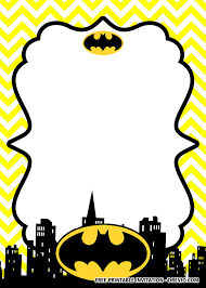Free Printable Batman Birthday Invitation Templates Invitaciones