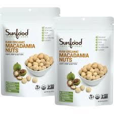 sunfood macadamia nuts 8 oz 2 pk