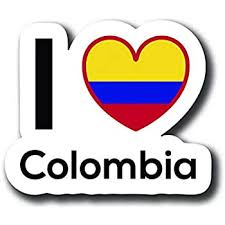 Amazon Com Love Columbia Flag Decal Sticker Home Pride Travel Car Truck Van Bumper Window Laptop Cup Wall One 5 Inch Decal Mks0130 Automotive