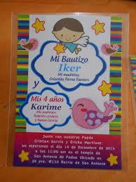 Invitacion Doble Bautizo 4 Anos Invitaciones De Fiesta