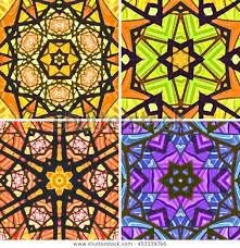 stained glass patterns four seamless