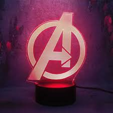 3d Stereo Night Lamp Marvel The Avenger Logo Sign Bedroom Decor Craft Multicolor Changing Cool Baby Led Night Light Kid Toy Gift Led Night Lights Aliexpress