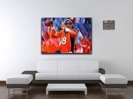 Peyton Manning Denver Broncos Canvas Canvas Print Poster Canvas Art Rocks