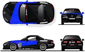 Spec Mx 5 Challenge Required Decal Packs Winding Road Racing